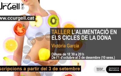 Taller alimentació. Centre Cívic Urgell